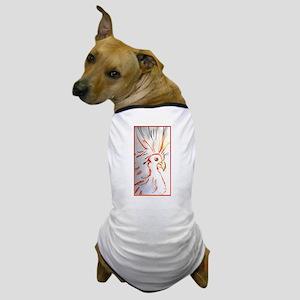 Bird, abstract wildlife art Dog T-Shirt