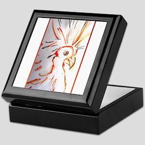 Bird, abstract wildlife art Keepsake Box