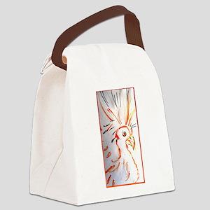 Bird, abstract wildlife art Canvas Lunch Bag