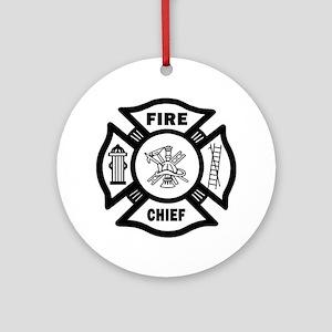 Fire Chief Ornament (Round)