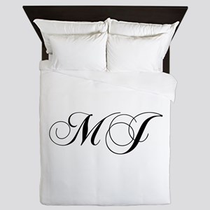 MJ-cho black Queen Duvet