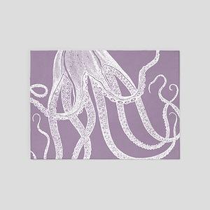 Vintage Octopus illustration in Lovely Lavender 5'