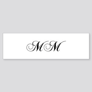 MM-cho black Bumper Sticker