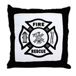 Fire Rescue Throw Pillow