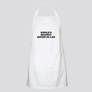 World's Okayest Sister-In-Law Apron