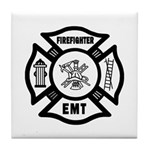 Firefighter EMT Tile Coaster