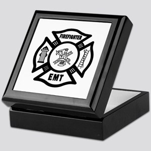 Firefighter EMT Keepsake Box
