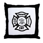 Firefighter EMT Throw Pillow