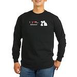 I Love Kisses Long Sleeve Dark T-Shirt