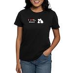 I Love Kisses Women's Dark T-Shirt