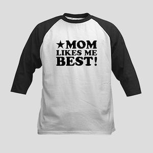 Mom Likes Me Best Kids Baseball Jersey