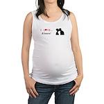 I Love Kisses Maternity Tank Top