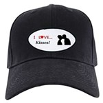 I Love Kisses Black Cap