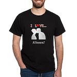I Love Kisses Dark T-Shirt
