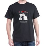 I Love Kisses Dark T-Shirt
