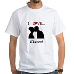 I Love Kisses White T-Shirt