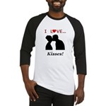 I Love Kisses Baseball Jersey