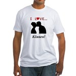 I Love Kisses Fitted T-Shirt