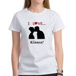 I Love Kisses Women's T-Shirt