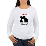 I Love Kisses Women's Long Sleeve T-Shirt