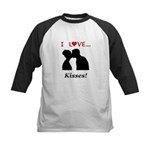 I Love Kisses Kids Baseball Jersey