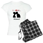 I Love Kisses Women's Light Pajamas