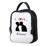 I Love Kisses Neoprene Lunch Bag