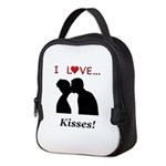 I Love Kisses Neoprene Lunch Bag