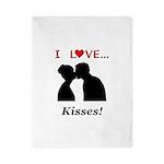 I Love Kisses Twin Duvet