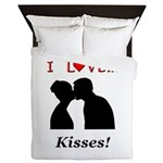 I Love Kisses Queen Duvet
