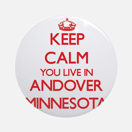 Keep calm you live in Andover Min Ornament (Round)