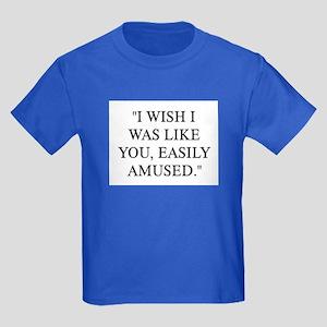 EASILY AMUSED Kids Dark T-Shirt