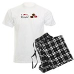 I Love Donuts Men's Light Pajamas