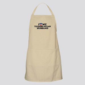I Love My Yugoslavian Husband BBQ Apron