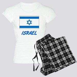 Israel Flag Artistic Blue Design Pajamas