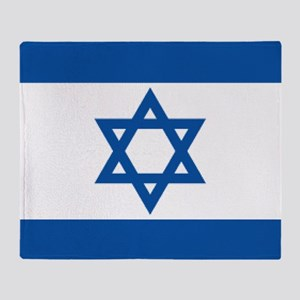 Israeli flag Throw Blanket