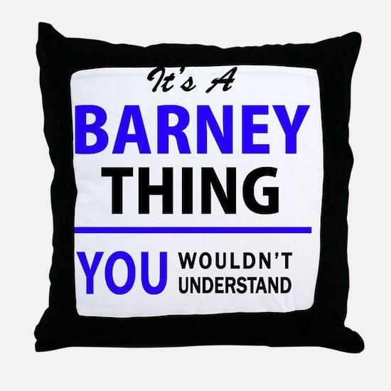 Unique Barney Throw Pillow
