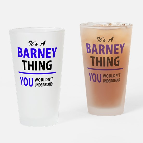 Cute Barney Drinking Glass