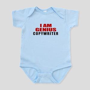 I Am Genius Copywriter Baby Light Bodysuit