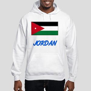 3923224169f Jordan Flag Artistic Blue Design Sweatshirt