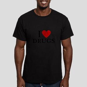 I love Drugs Men's Fitted T-Shirt (dark)
