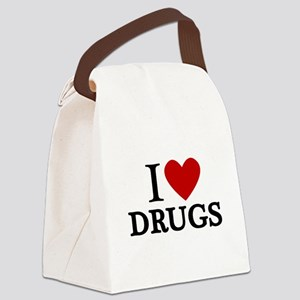 I love Drugs Canvas Lunch Bag