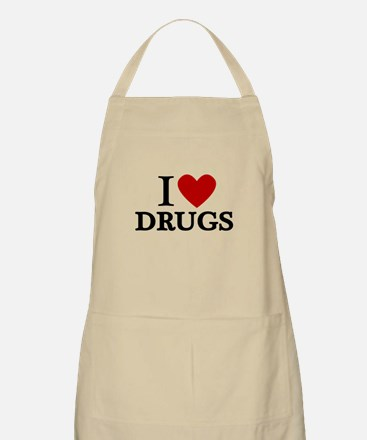 I love Drugs Apron