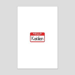 Hello Kaiden Mini Poster Print