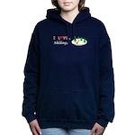I Love Skiing Women's Hooded Sweatshirt