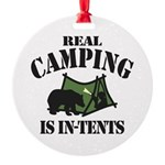 Real Camping Ornament