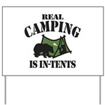 Real Camping Yard Sign