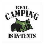 Real Camping Square Car Magnet 3