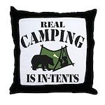 Real Camping Throw Pillow