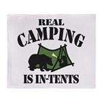 Real Camping Throw Blanket